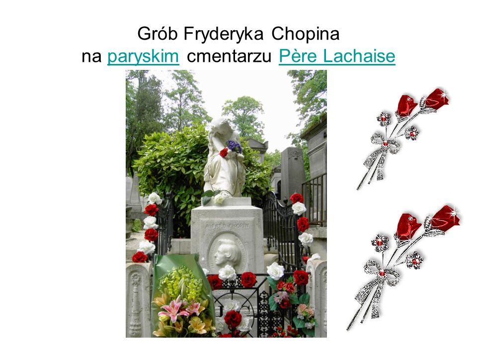 Grób Fryderyka Chopina na paryskim cmentarzu Père Lachaise