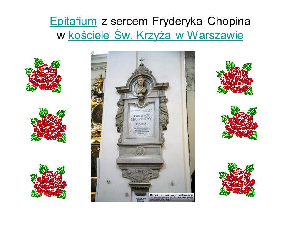 Epitafium z sercem Fryderyka Chopina w kościele Św. Krzyża w Warszawie