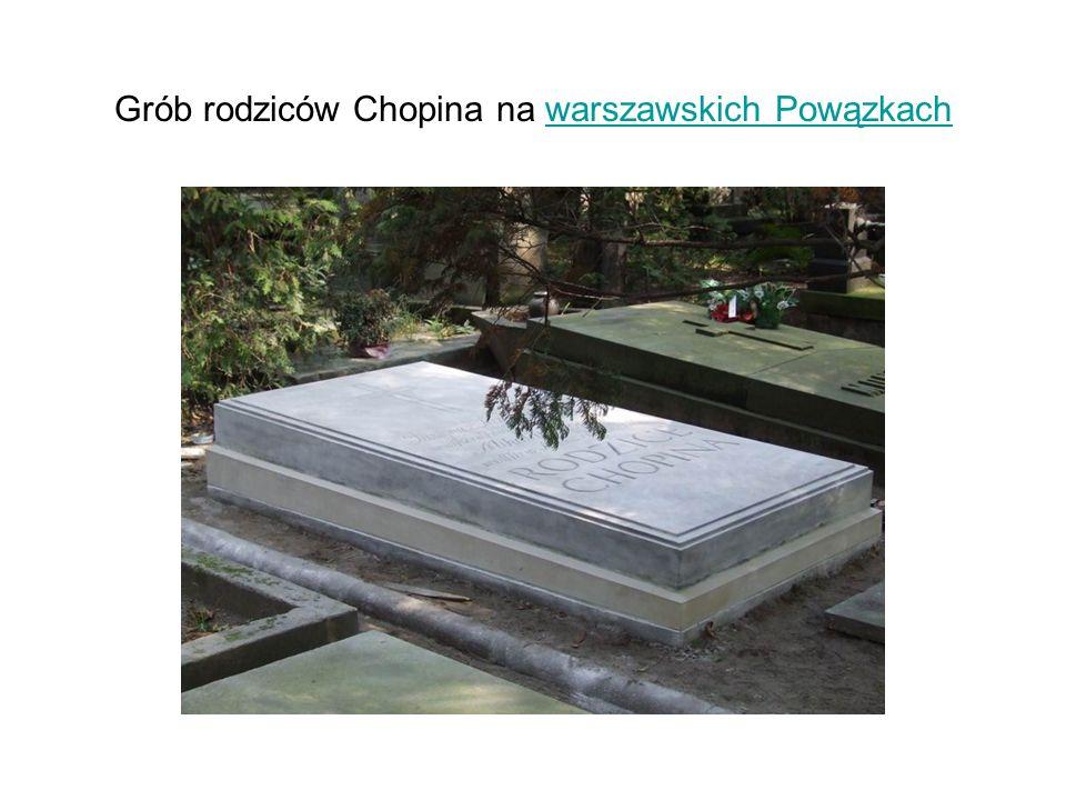 Grób rodziców Chopina na warszawskich Powązkach