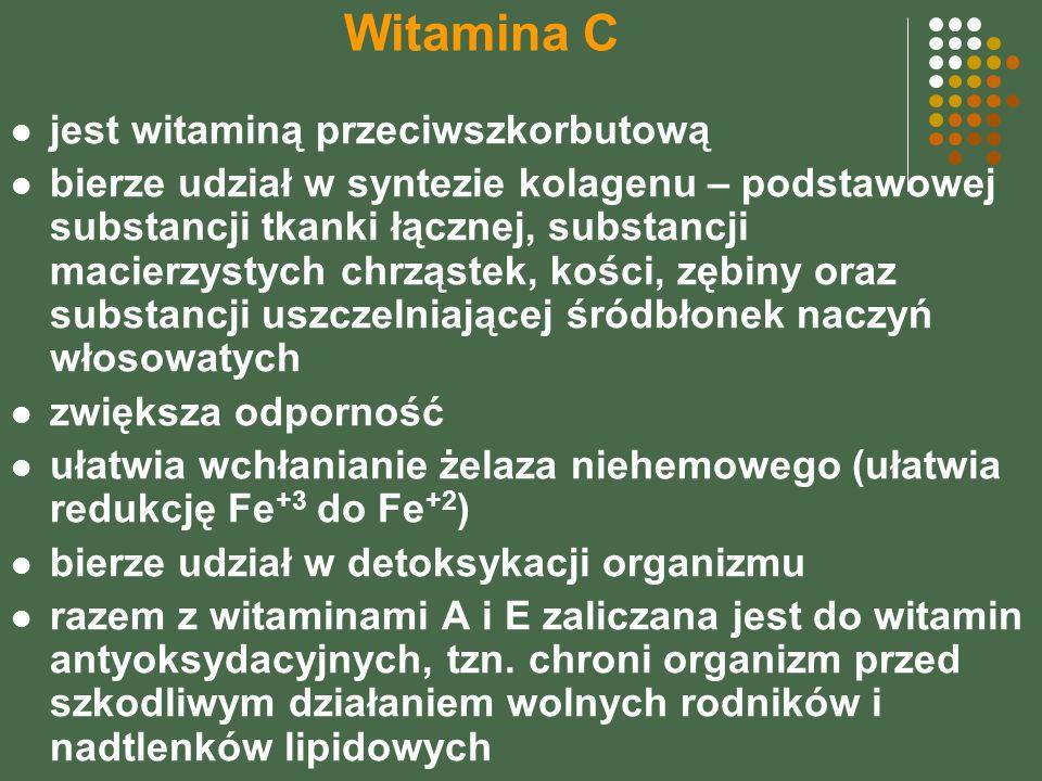 Witamina C jest witaminą przeciwszkorbutową