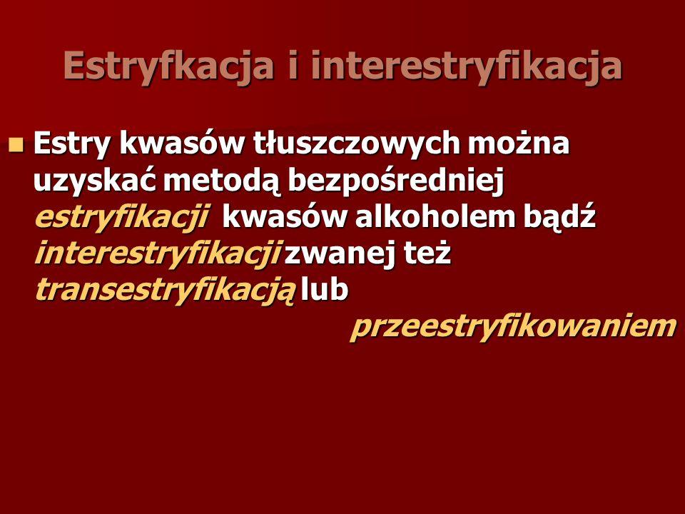 Estryfkacja i interestryfikacja
