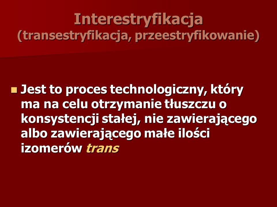 Interestryfikacja (transestryfikacja, przeestryfikowanie)