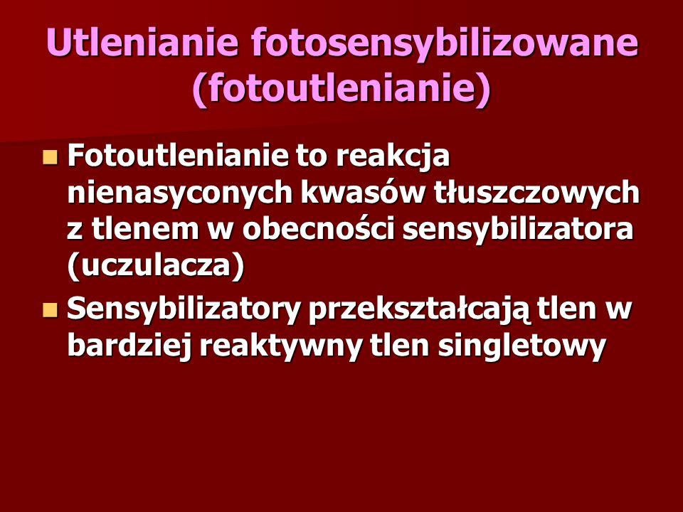 Utlenianie fotosensybilizowane (fotoutlenianie)
