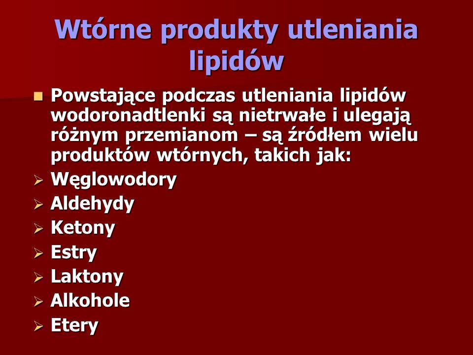 Wtórne produkty utleniania lipidów