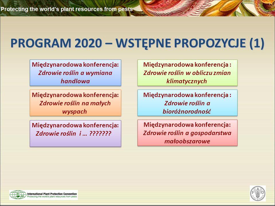 PROGRAM 2020 – WSTĘPNE PROPOZYCJE (1)