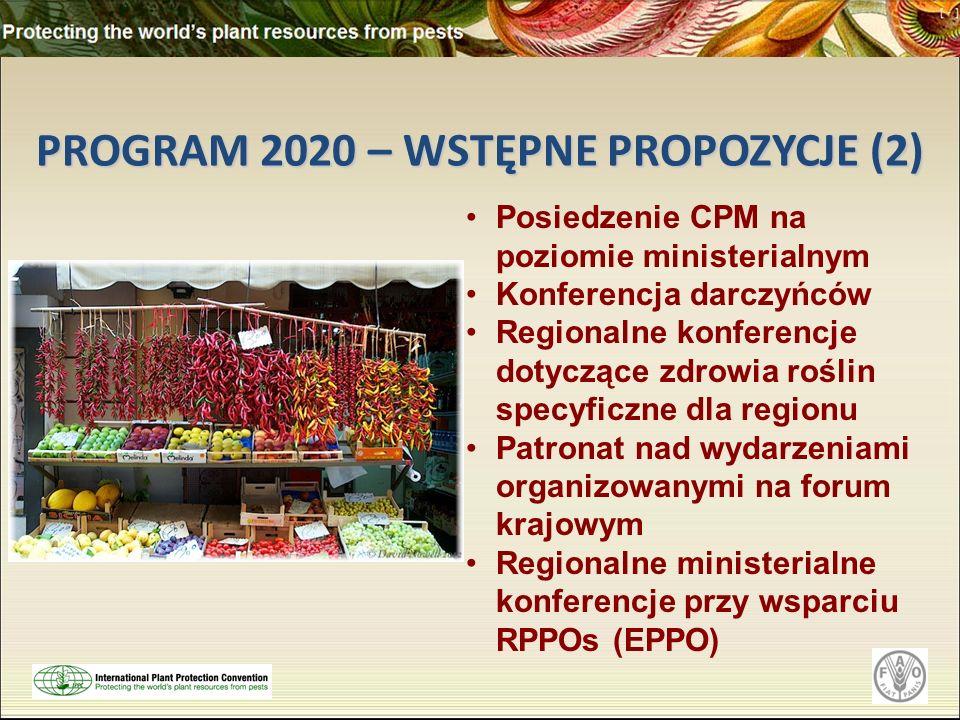PROGRAM 2020 – WSTĘPNE PROPOZYCJE (2)