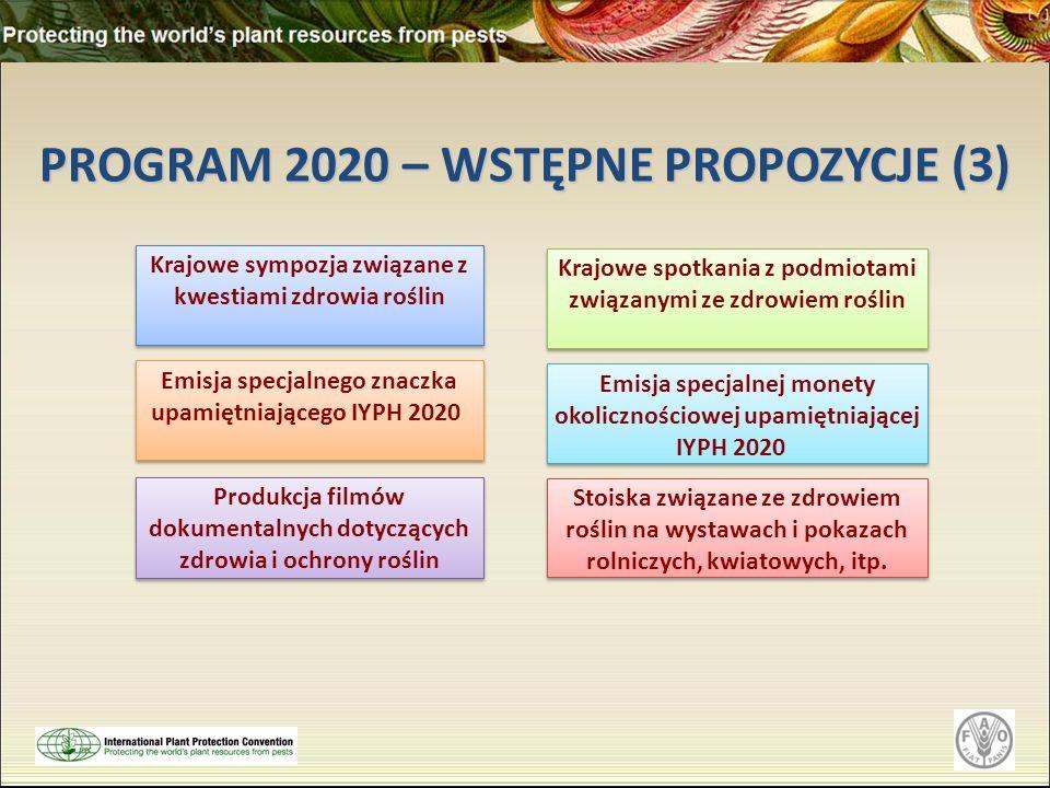 PROGRAM 2020 – WSTĘPNE PROPOZYCJE (3)