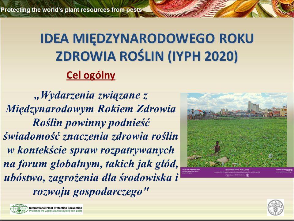 IDEA MIĘDZYNARODOWEGO ROKU ZDROWIA ROŚLIN (IYPH 2020)