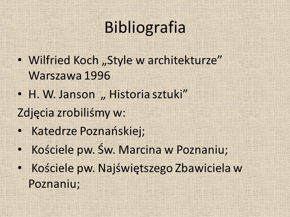 """Bibliografia Wilfried Koch """"Style w architekturze Warszawa 1996"""