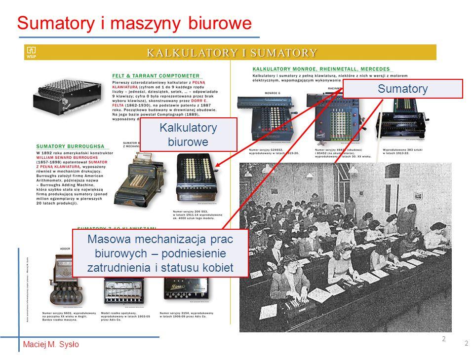 Sumatory i maszyny biurowe