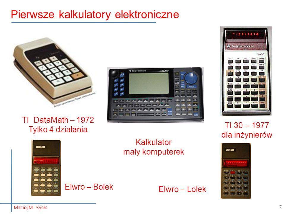 TI DataMath – 1972 Tylko 4 działania