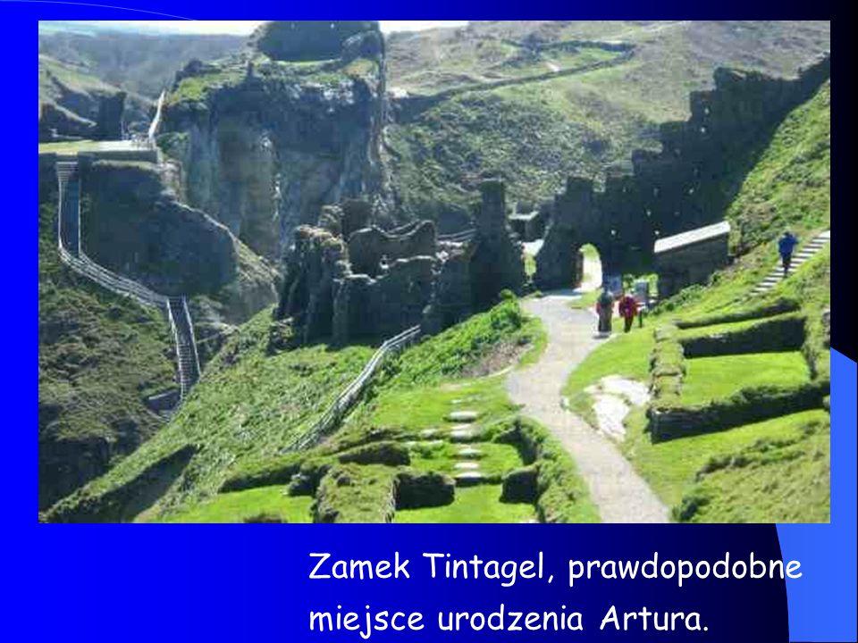 Zamek Tintagel, prawdopodobne miejsce urodzenia Artura.