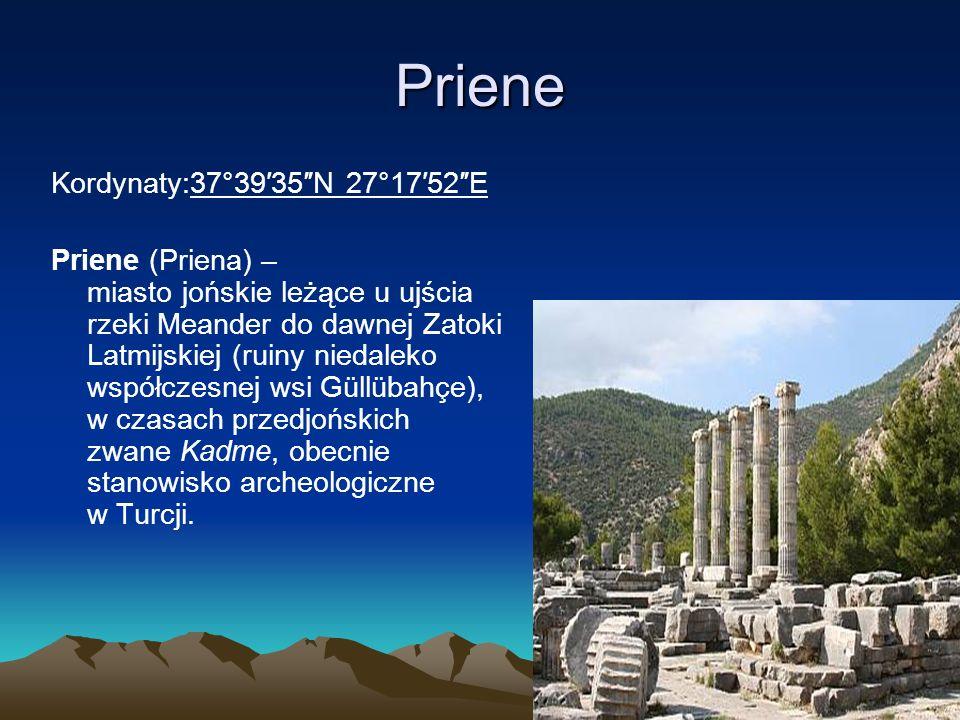 Priene Kordynaty:37°39′35″N 27°17′52″E