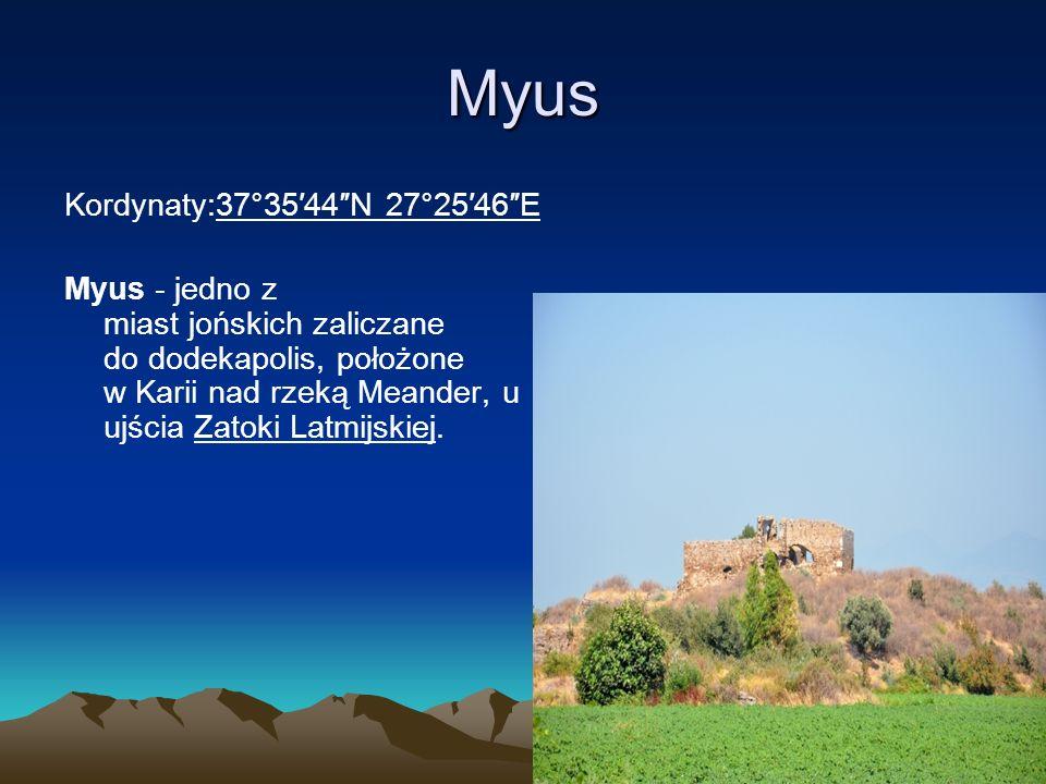 Myus Kordynaty:37°35′44″N 27°25′46″E
