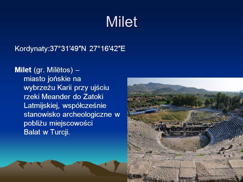 Milet Kordynaty:37°31′49″N 27°16′42″E