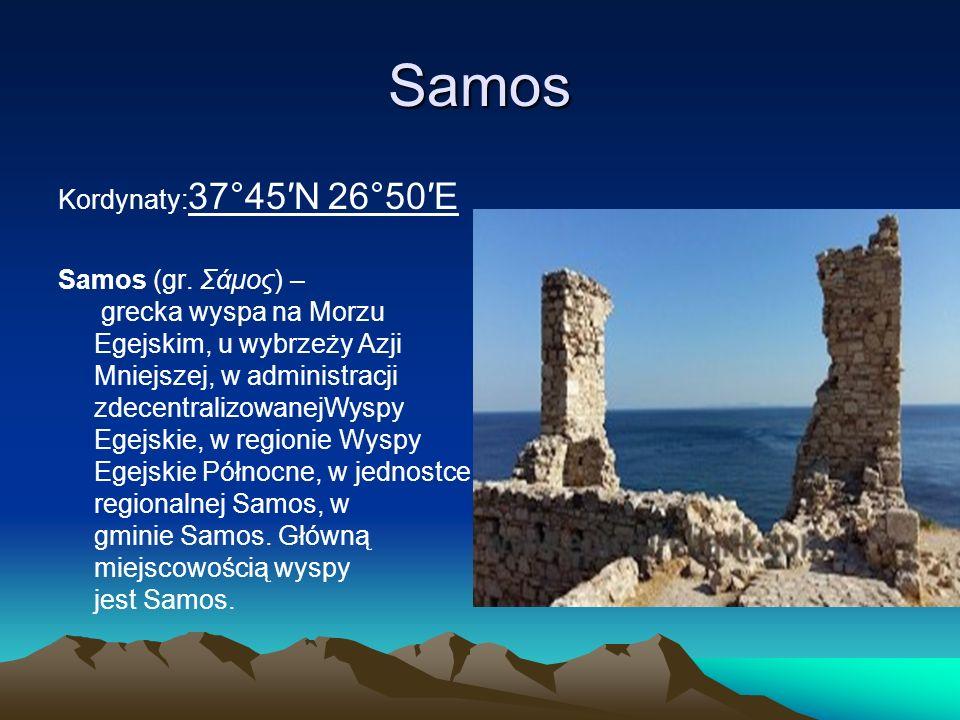 Samos Kordynaty:37°45′N 26°50′E