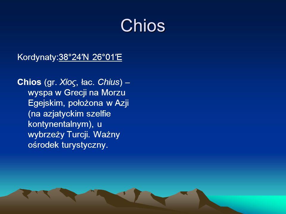 Chios Kordynaty:38°24′N 26°01′E