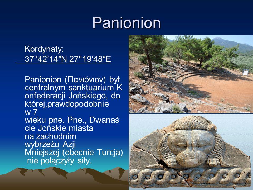 Panionion Kordynaty: 37°42′14″N 27°19′48″E