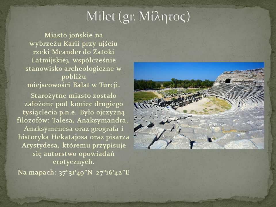 Milet (gr. Μίλητος)