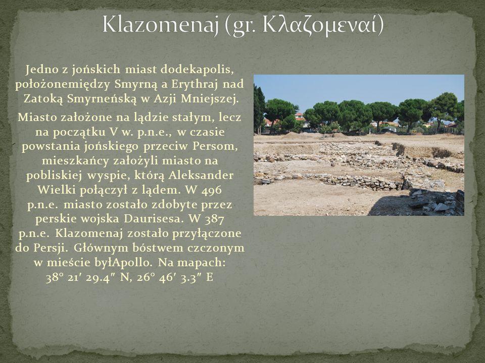 Klazomenaj (gr. Κλαζομεναί)
