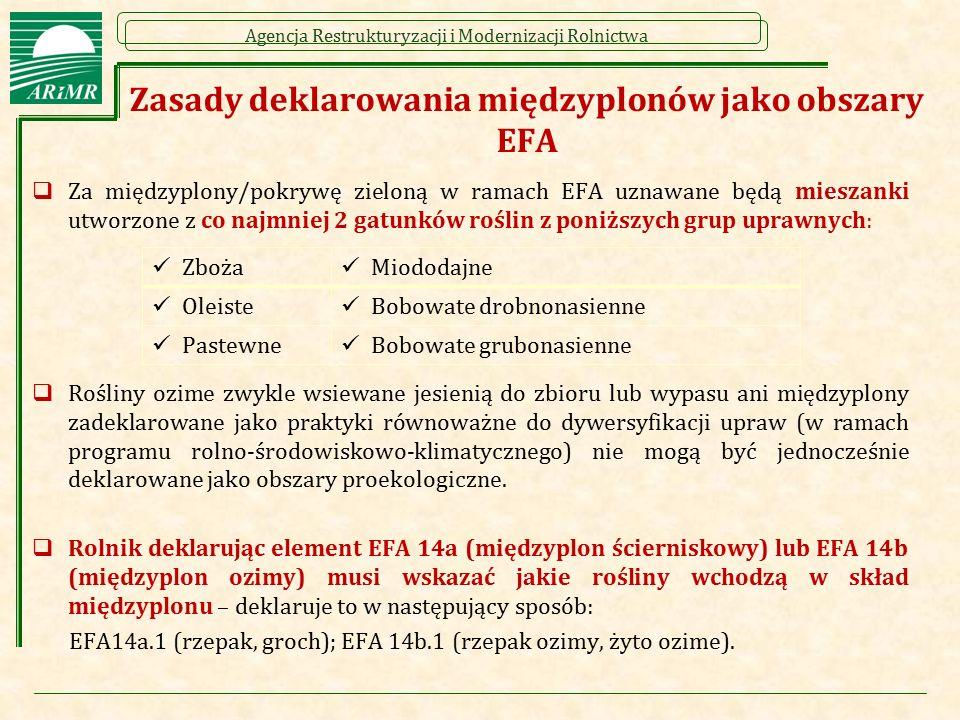 Zasady deklarowania międzyplonów jako obszary EFA
