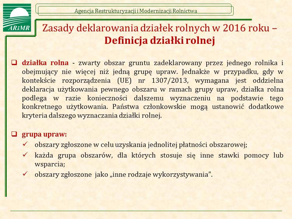 Zasady deklarowania działek rolnych w 2016 roku – Definicja działki rolnej