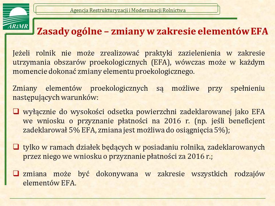 Zasady ogólne – zmiany w zakresie elementów EFA