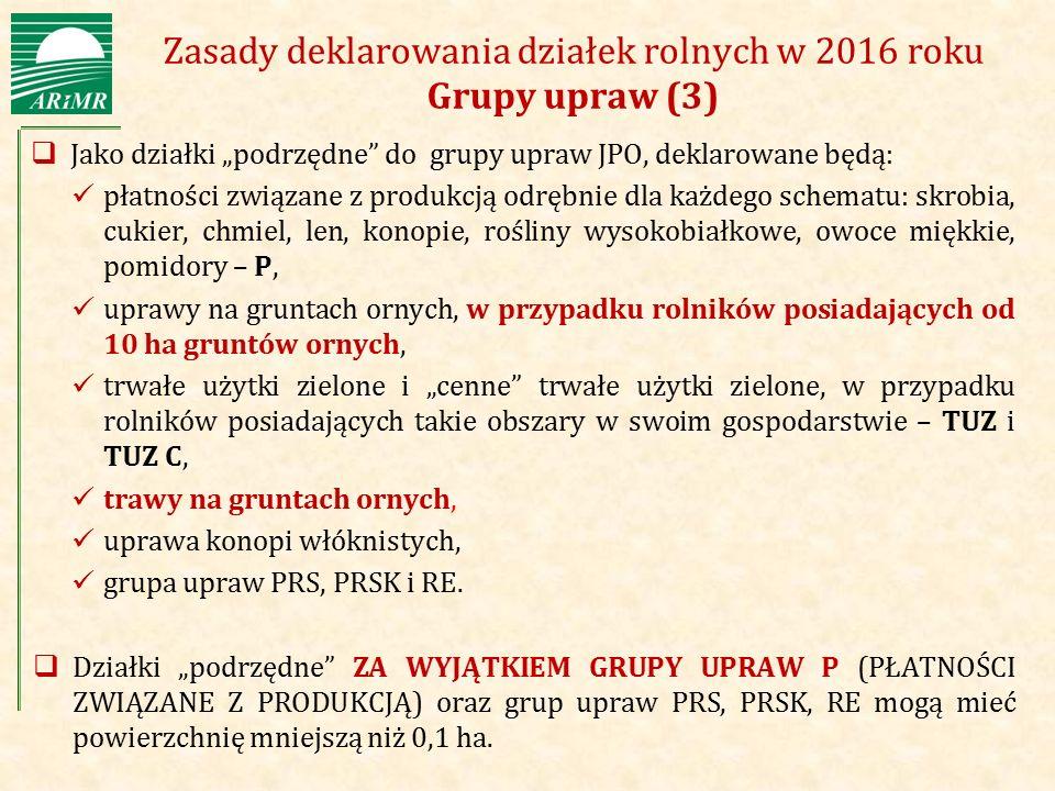 Zasady deklarowania działek rolnych w 2016 roku Grupy upraw (3)