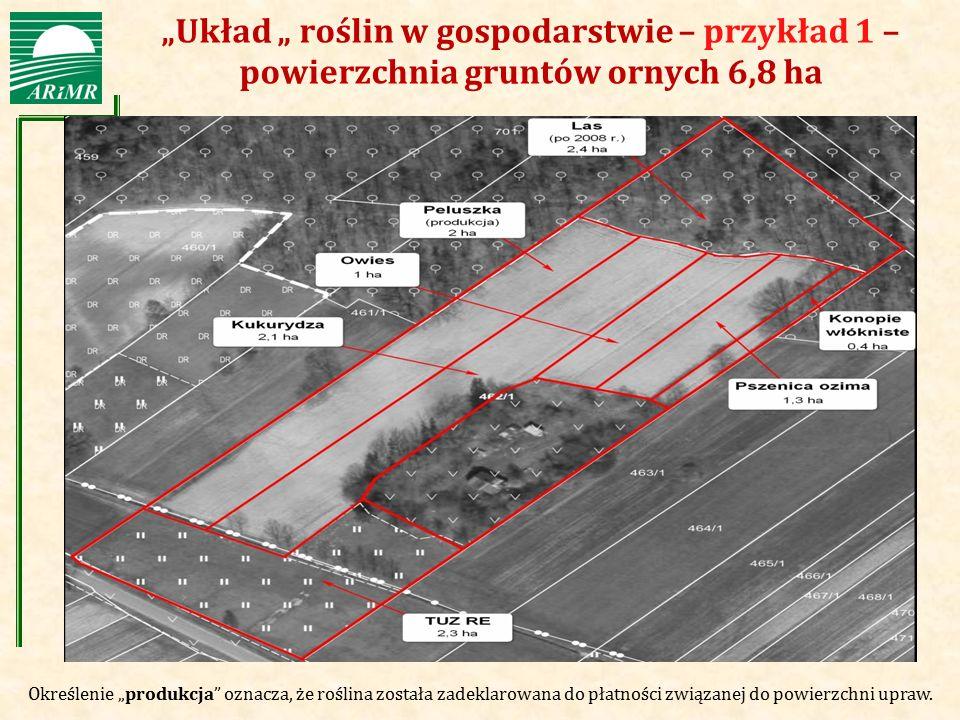 """""""Układ """" roślin w gospodarstwie – przykład 1 – powierzchnia gruntów ornych 6,8 ha"""
