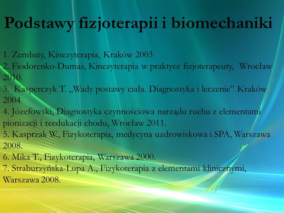 Podstawy fizjoterapii i biomechaniki