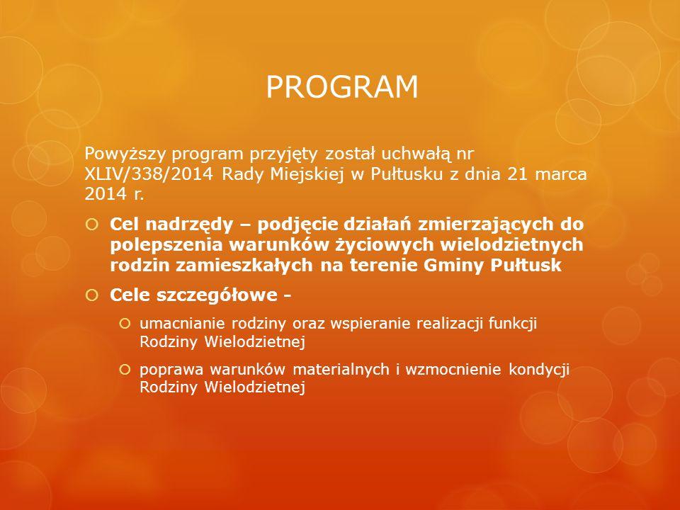 PROGRAM Powyższy program przyjęty został uchwałą nr XLIV/338/2014 Rady Miejskiej w Pułtusku z dnia 21 marca 2014 r.