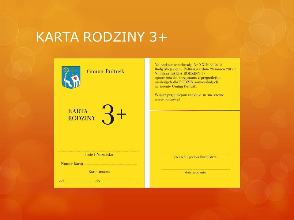 KARTA RODZINY 3+