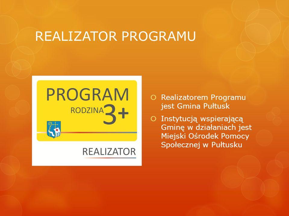 REALIZATOR PROGRAMU Realizatorem Programu jest Gmina Pułtusk