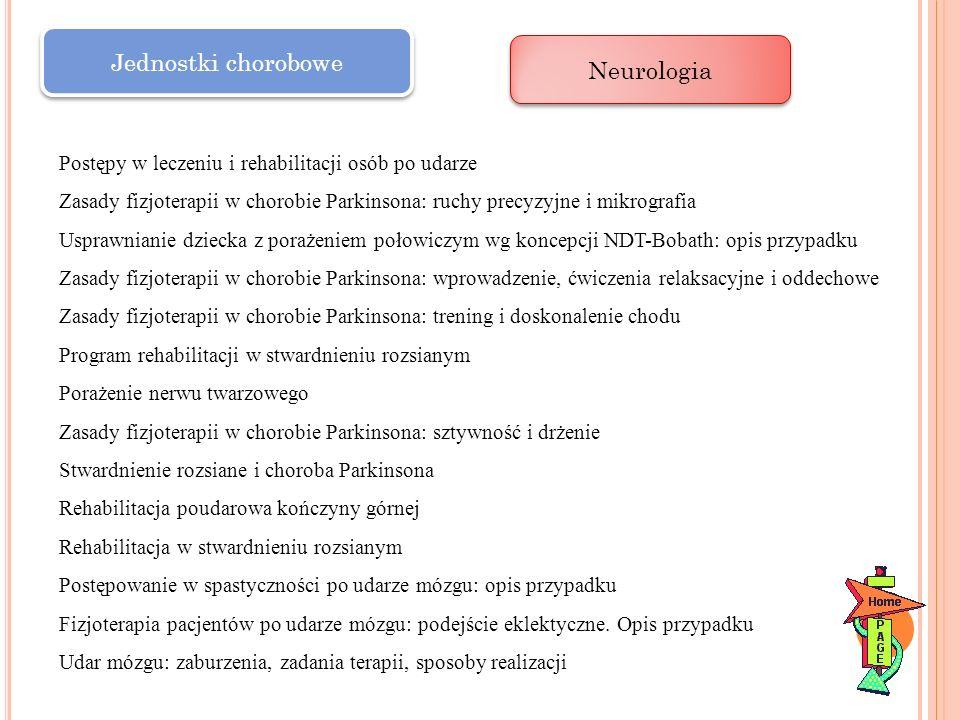 Jednostki chorobowe Neurologia