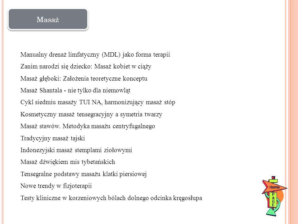 Masaż Manualny drenaż limfatyczny (MDL) jako forma terapii