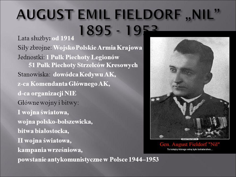 """AUGUST EMIL FIELDORF """"NIL 1895 - 1953"""