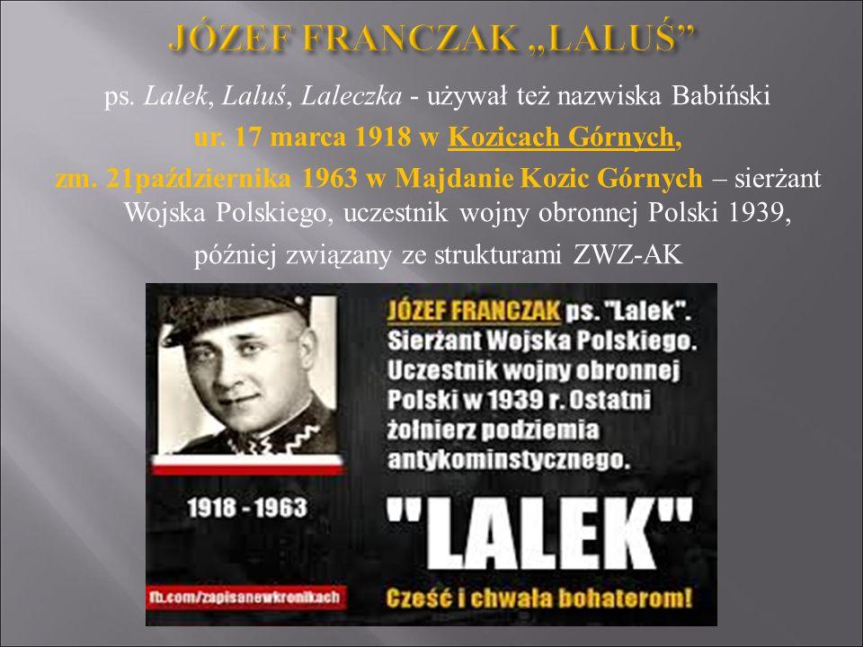 """JÓZEF FRANCZAK """"LALUŚ"""