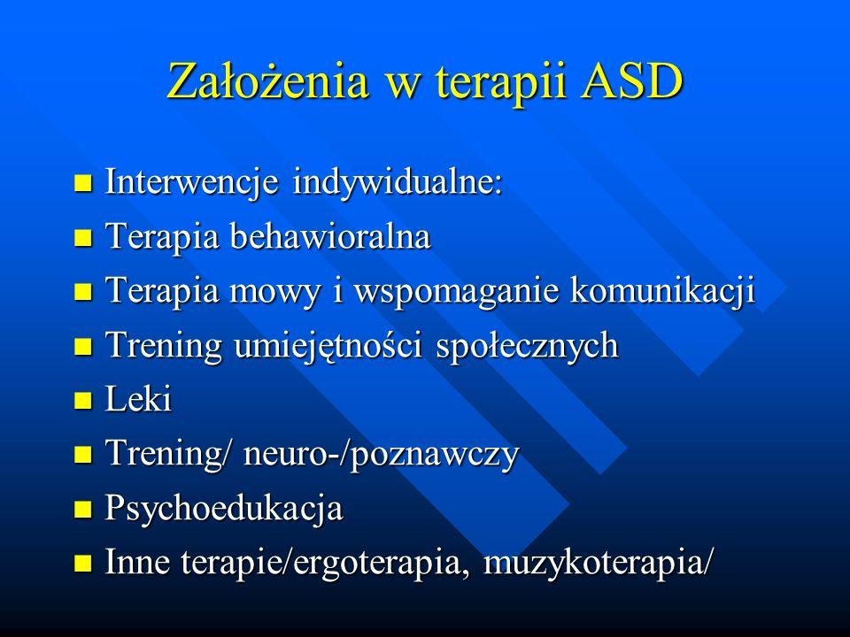 Założenia w terapii ASD