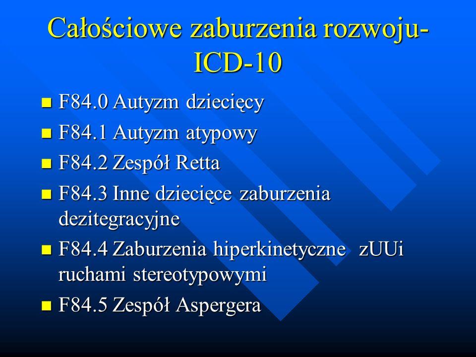 Całościowe zaburzenia rozwoju-ICD-10