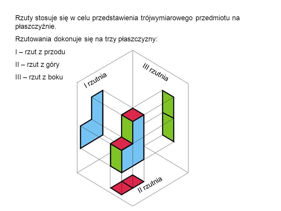 Rzuty stosuje się w celu przedstawienia trójwymiarowego przedmiotu na płaszczyźnie.