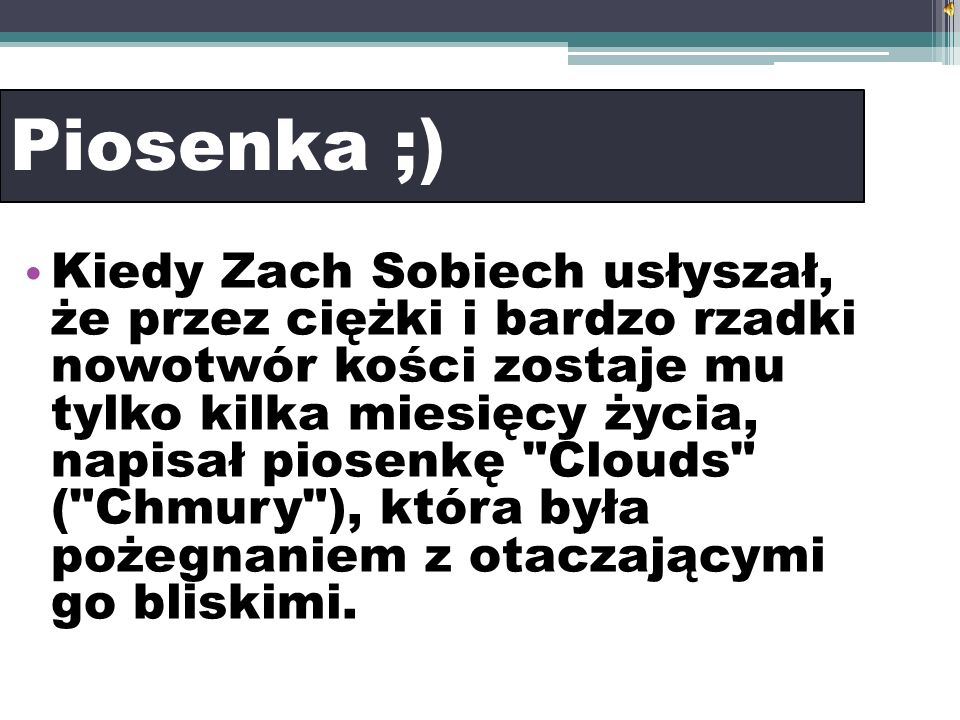 Piosenka ;)