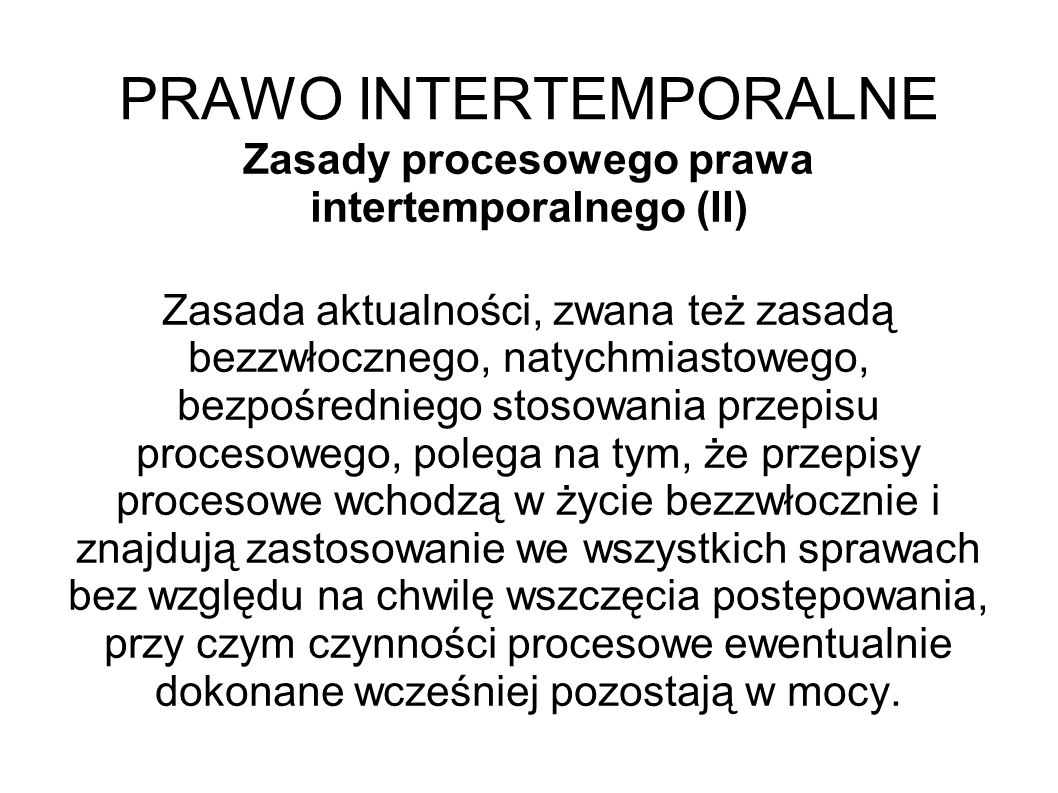 PRAWO INTERTEMPORALNE