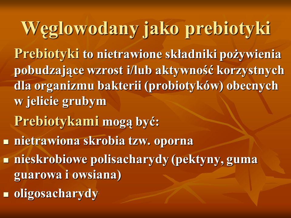Węglowodany jako prebiotyki