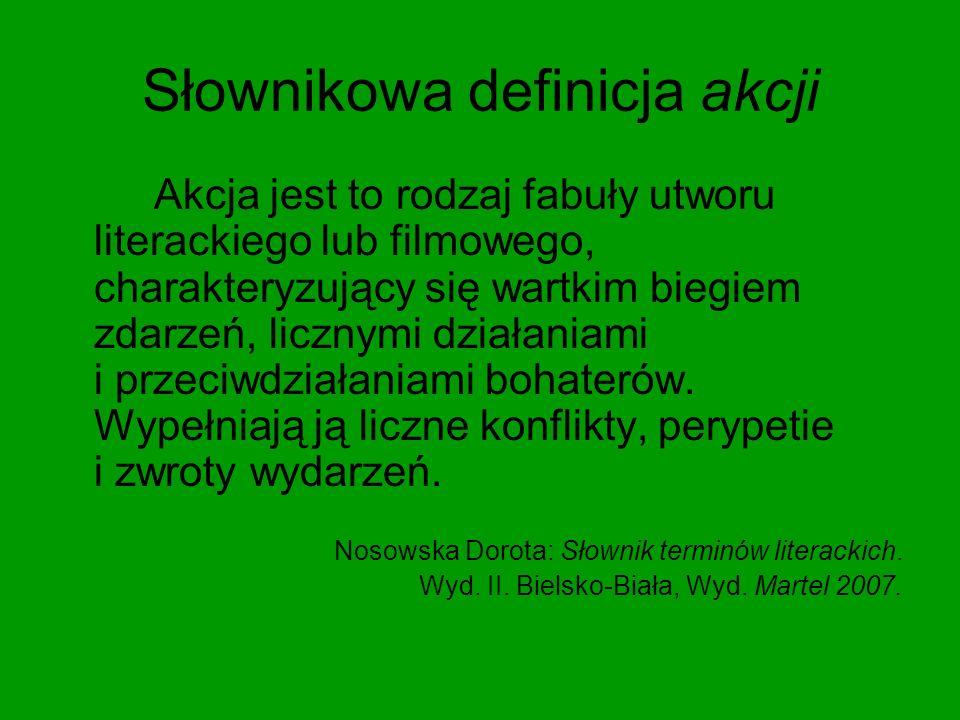 Słownikowa definicja akcji