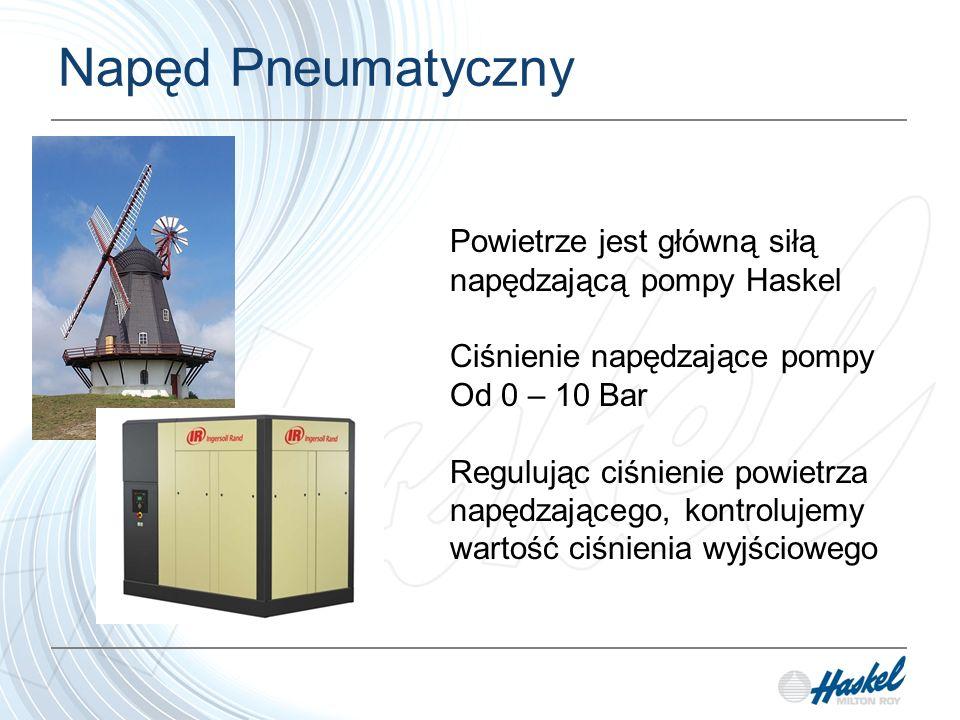 Napęd Pneumatyczny Powietrze jest główną siłą napędzającą pompy Haskel