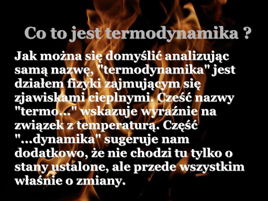 Co to jest termodynamika