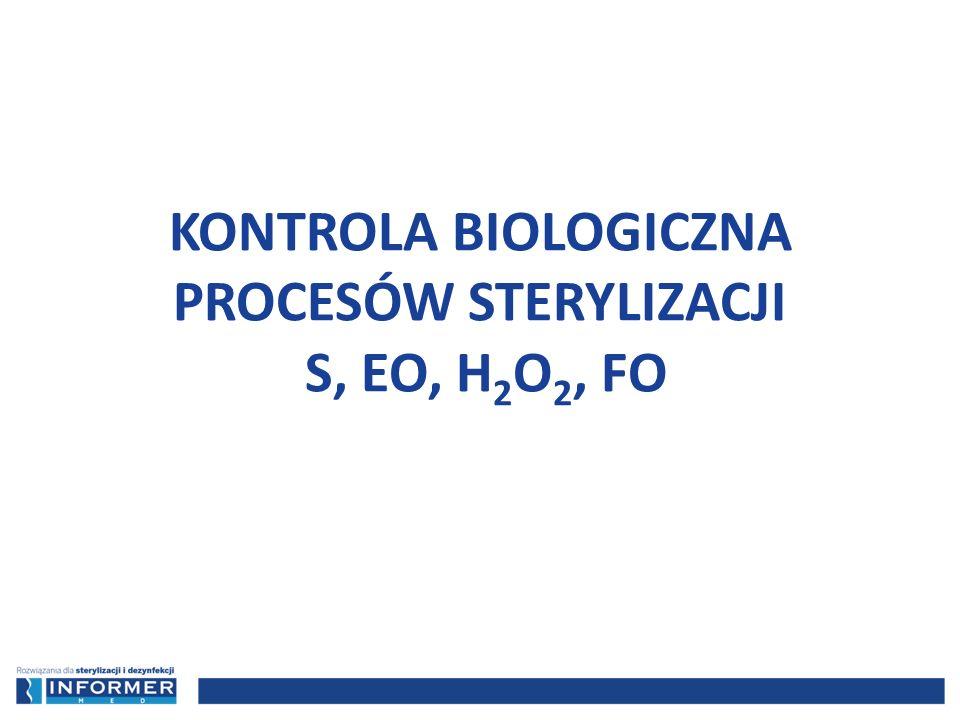 KONTROLA BIOLOGICZNA PROCESÓW STERYLIZACJI S, EO, H2O2, FO