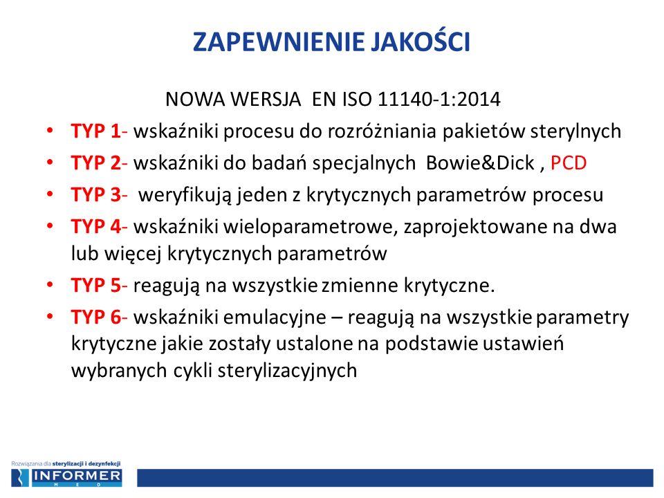 ZAPEWNIENIE JAKOŚCI NOWA WERSJA EN ISO 11140-1:2014