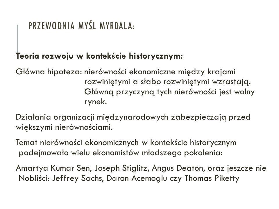 Przewodnia myśl Myrdala:
