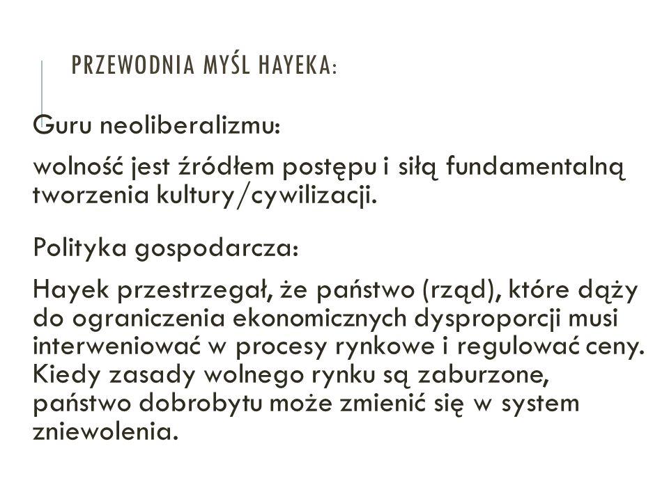 Przewodnia myśl Hayeka: